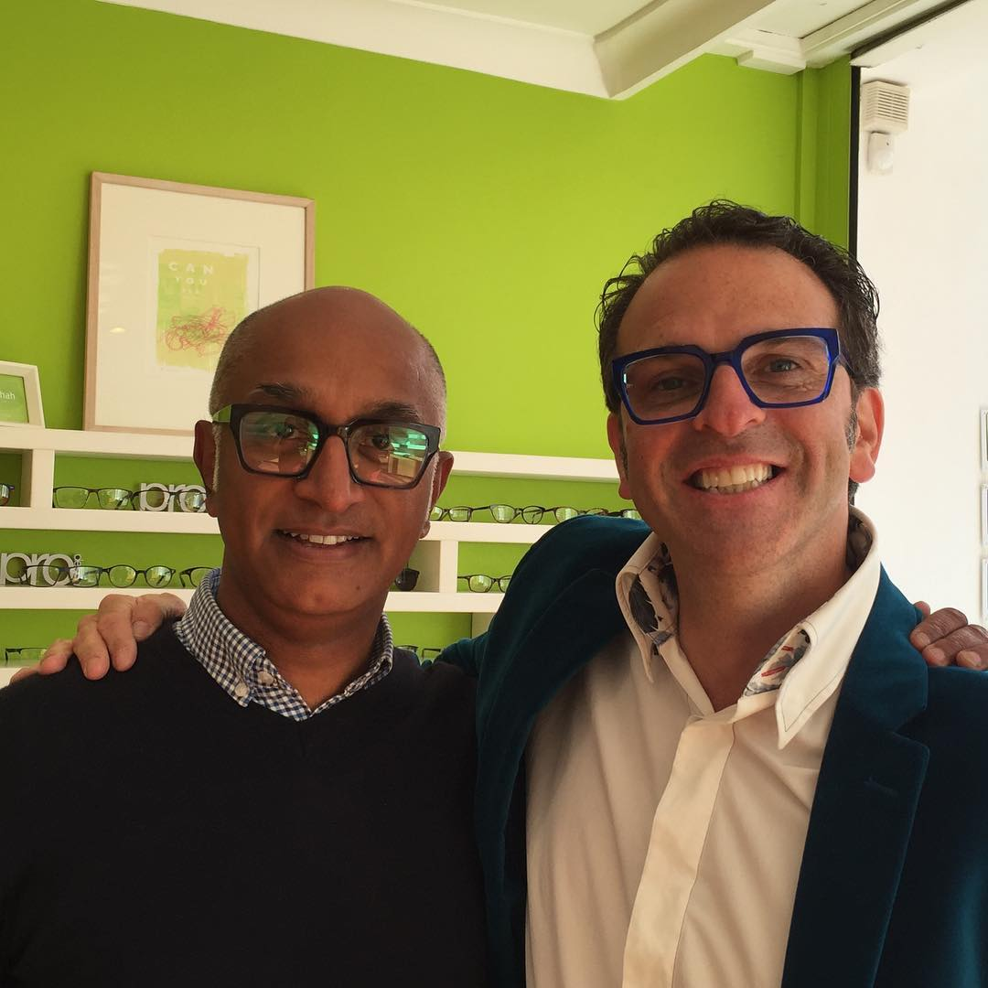 Great afternoon with Jason. Great doing business with nice people. New frames coming very soon. #kirkandkirk #distinctiveeyewear #beautifulframes #bristol #cothamhill